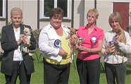 Smoothcoat Dog winners with judge Mrs P Milton